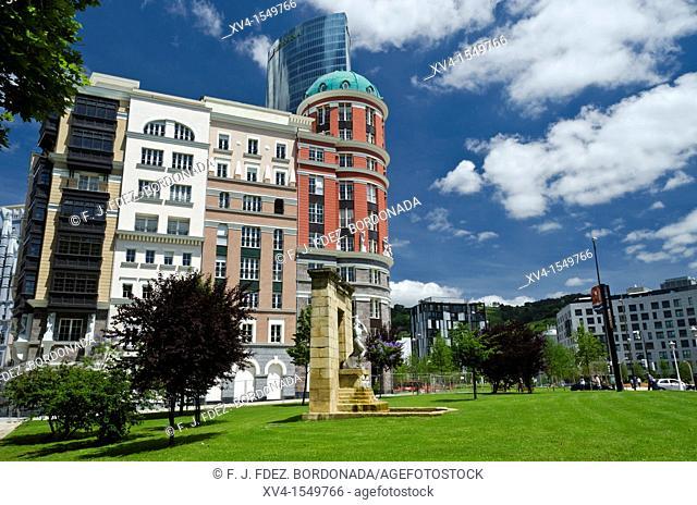 Euskadi square  Bilbao city  Biscay  Basque Country, Spain, Europe