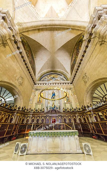 Interior view of the Cathedral of Immaculate Conception Virgin Mary in the Plaza de la Catedral,Havana, Cuba