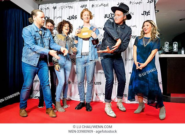 2018 JUNO Awards, held at the Rogers Arena in Vancouver, Canada. Featuring: Arcade Fire Where: Vancouver, British Columbia
