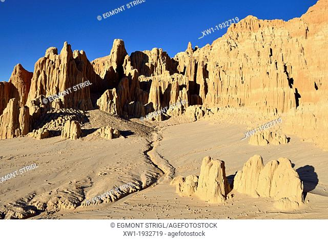 Panaca rock formation at Cathedral Gorge State Park, Nevada, USA, North America