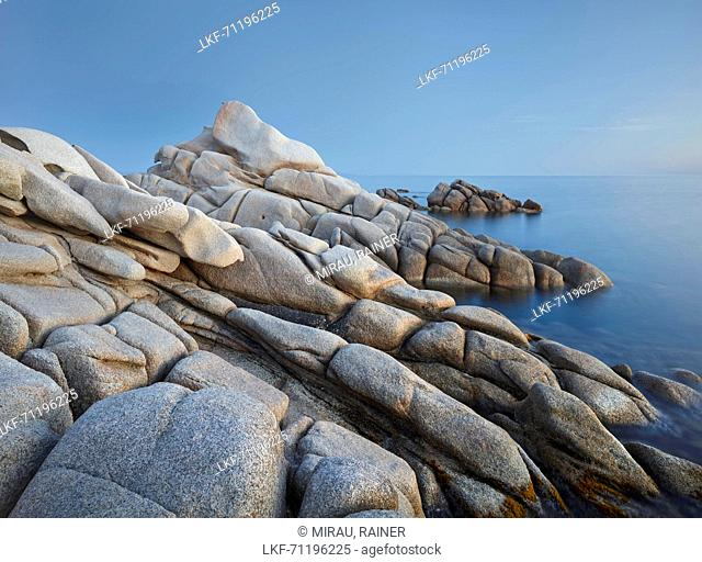 rock formations in the Nature Reserve, near Bonifacio, bruzzi department Corse du Sud, Corsica, France