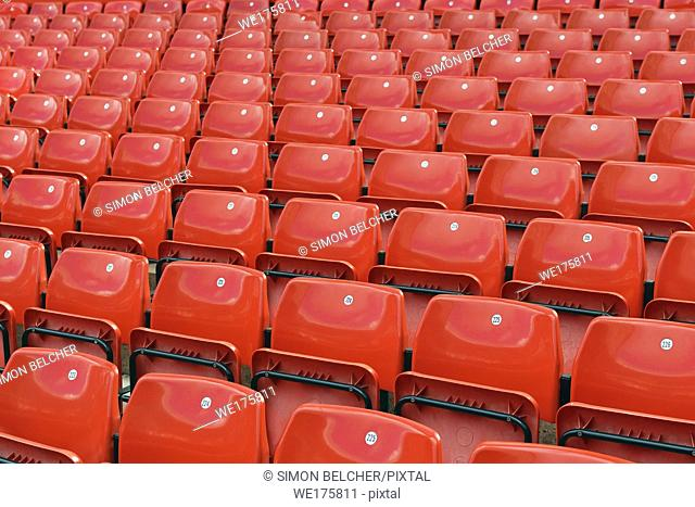 Stadium Seating, Rows of Empty Seats, UK