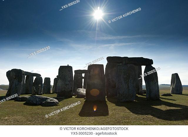 Stonehenge prehistoric monument in Wiltshire, England