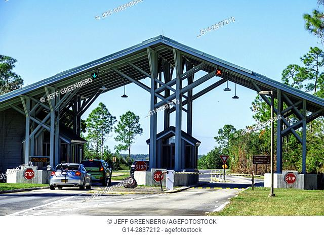 Florida, Everglades National Park, entrance, pay station