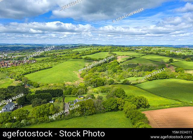 Spreeng in Devon seen over Beacon Hill near Exeter, Devon, England, United Kingdom, Europe