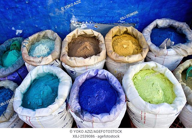 Morocco, Chefchaouen, natural colors