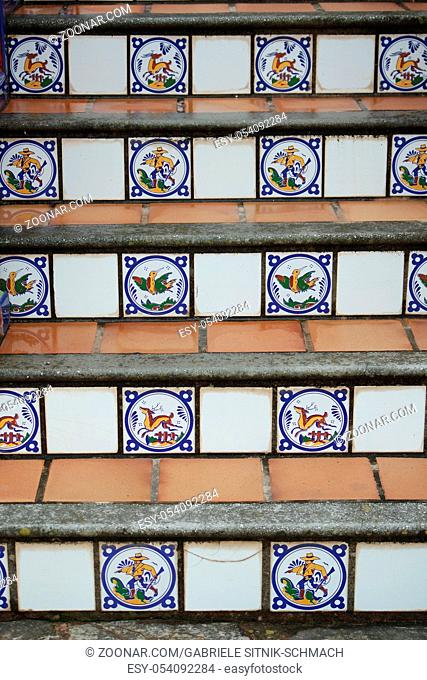 Treppe mit Azulejos, Andalusien