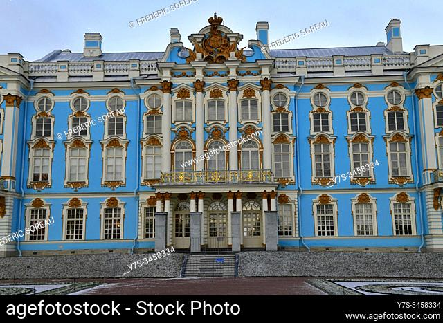 Caterine's Palace at Pushkin in St. Petersburg, Russia