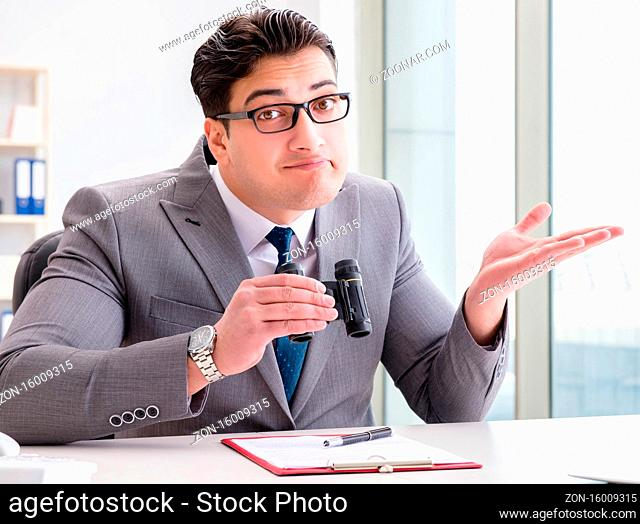 The man looking for errors and mistakes in report