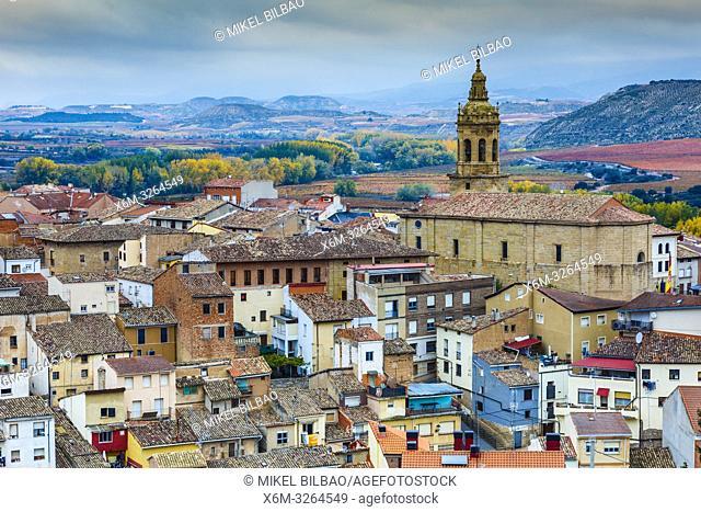 Cenicero village. La Rioja, Spain, Europe