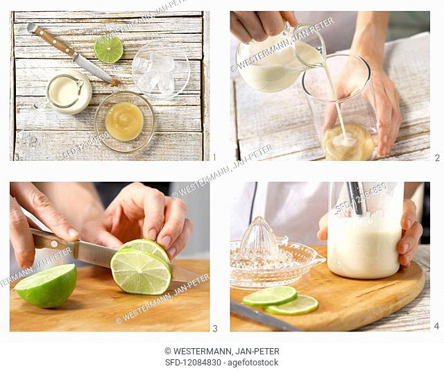 How to prepare apple & banana smoothie with soya milk
