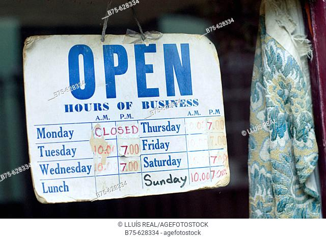 Open hours of business