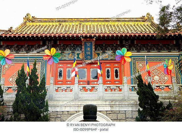 Po lin monastery exterior, lantau island, china