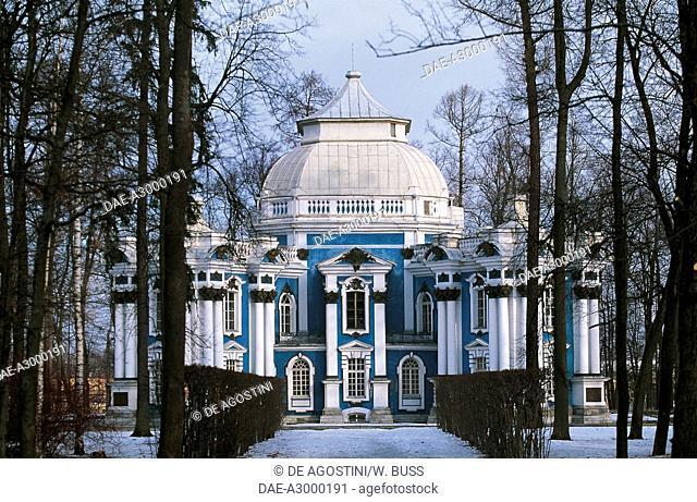 The Hermitage Pavilion in the snow, 1744, Catherine Palace, Tsarskoye Selo, Pushkin, Russia