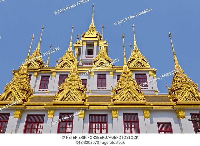 Loha Prasat, Wat Ratchanatdaram, Banglamphu, Bangkok, Thailand