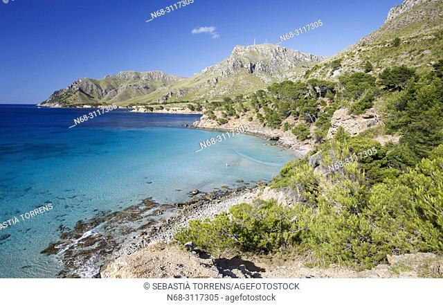 View of Na Clara, coast of Arta, Majorca, Balearic Islands, Spain