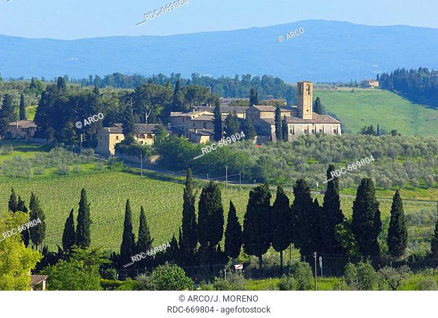 Santa Lucia, San Gimignano, Tuscany, Italy, Siena Province, UNESCO World Heritage Site, Europe