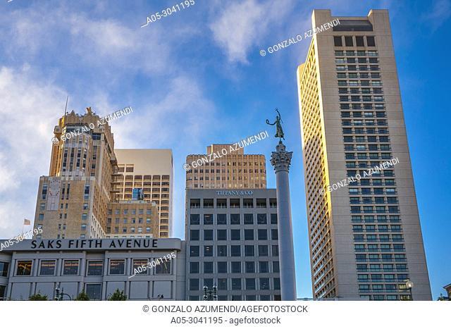 The Dewey Monument. Memorial statue. Union Square. San Francisco. California, USA