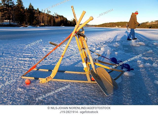 Winter tools Northern Sweden