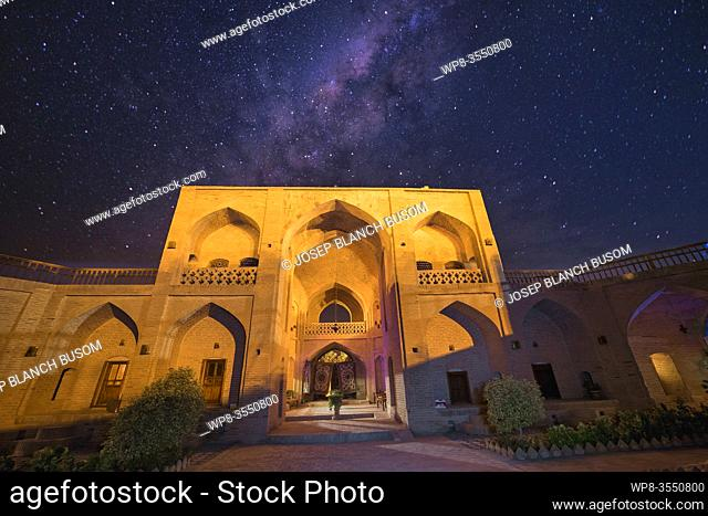 Clear night in a caravanserai where the Milky Way is observed