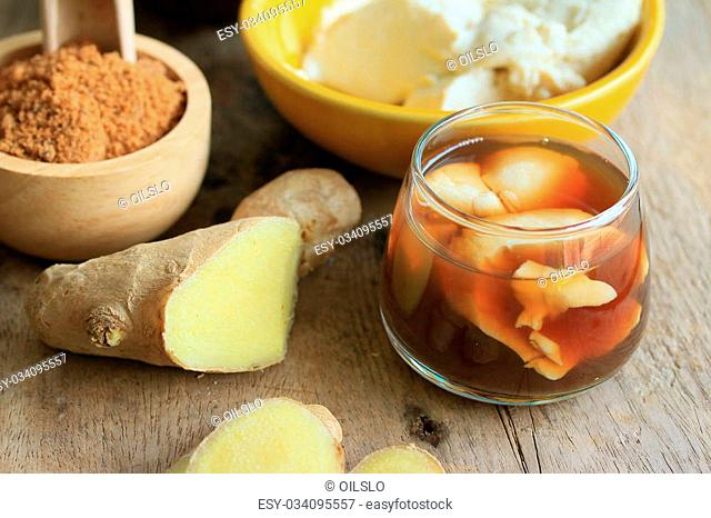 soybean curd and fresh ginger