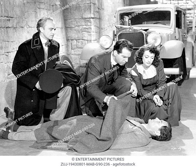 RELEASED: Aug 5, 1943 - Original Film Title: Above Suspicion. PICTURED: BASIL RATHBONE, FRED MACMURRAY, JOAN CRAWFORD. (Credit Image: © Entertainment...