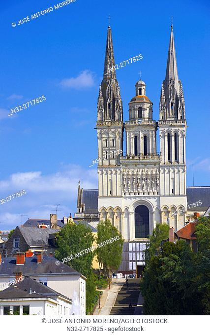 Angers, Cathedral, Maine et Loire, Anjou Province, River Maine, Pays de la Loire, Loire Valley, UNESCO World Heritage Site, France