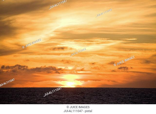 Sunset at Bahia Magdalena, Baja California Sur, Mexico