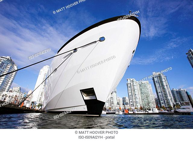 Hull of yacht, Vancouver, Canada