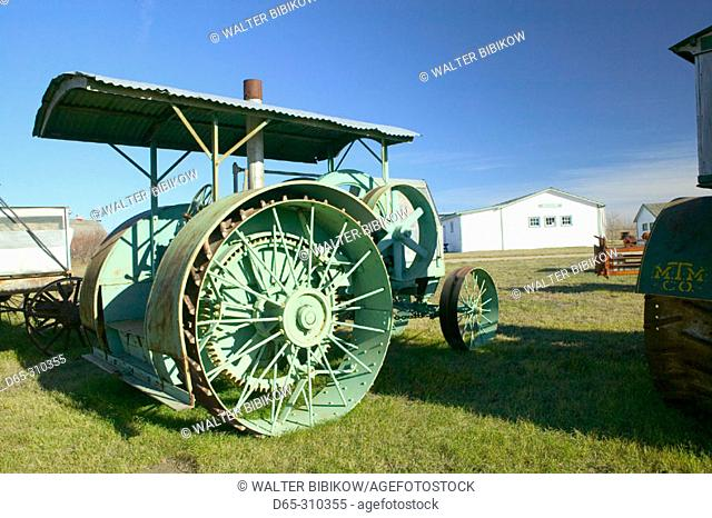 Western Development Museum and Village, old farm tractor. North Battlerford. Saskatchewan, Canada