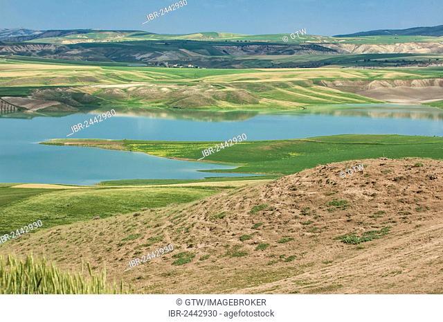 Landscape with Euphrates river, Adiyaman Province, East Turkey, Turkey