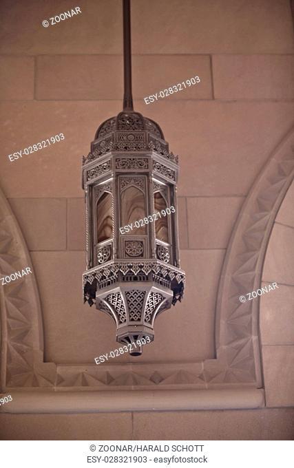 A chandelier Sultan Qaboos Mosque