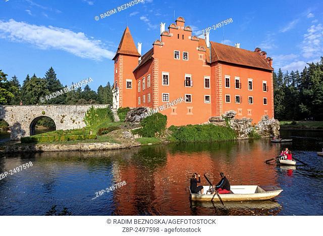 Cervena Lhota, Water Castle, South Bohemia, Czech Republic, Europe