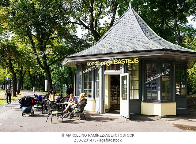Bastion Hill park. Riga, Latvia, Baltic states, Europe