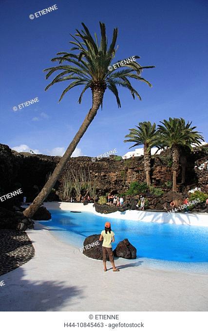 Lanzarote island, Spain, Europe, Canary islands, Jameos del Agua, travel, volcanism, volcanic Landscape, scenery, arti