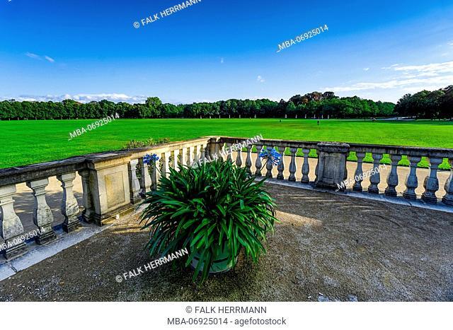 Germany, Hesse, Kassel, Orangerie, palace grounds, terrace, balustrade