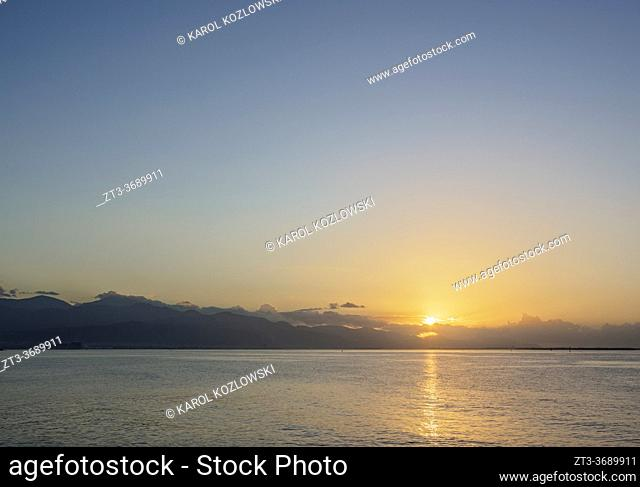 View over Cagway Bay at sunrise, Portmore, Saint Catherine Parish, Jamaica