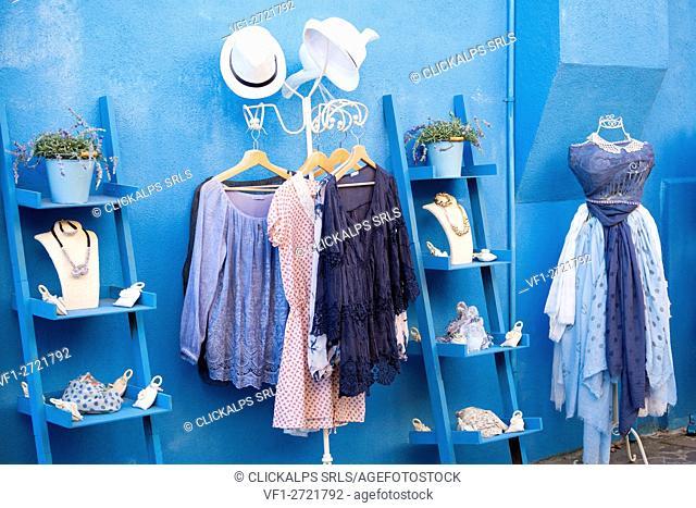 A shop in Burano island. Venice, Veneto, Italy