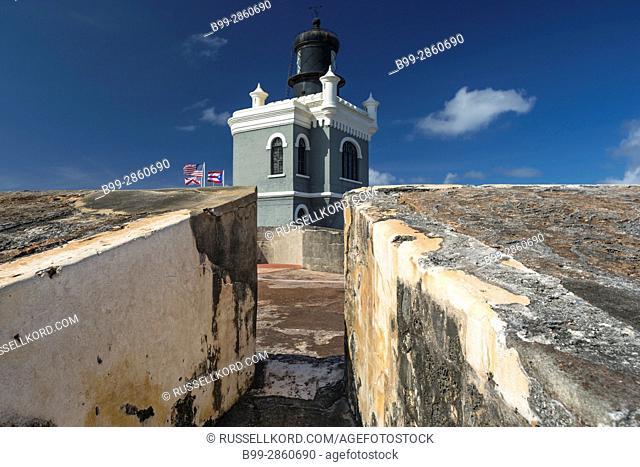LIGHTHOUSE CASTILLO SAN FELIPE DEL MORRO OLD CITY SAN JUAN PUERTO RICO