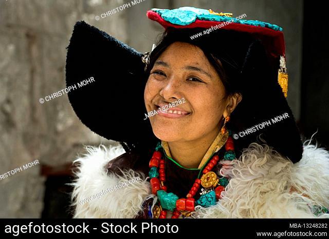 Hemis Gompa monastery, Ladahk woman, portrait