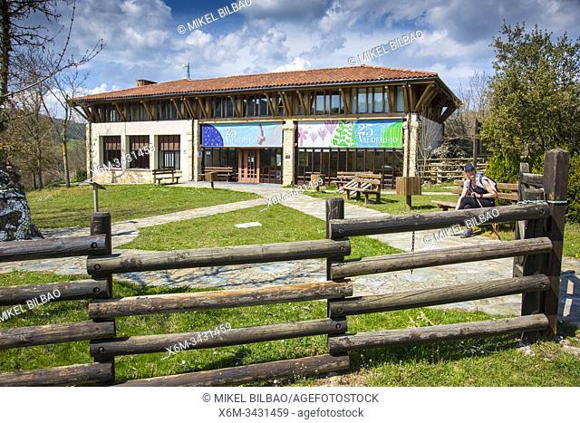 Centro de interpretacion (Information Centre. Lalastra village. Desfiladero del Rio Puron route. Valderejo Natural Park, Alava, Spain, Europe