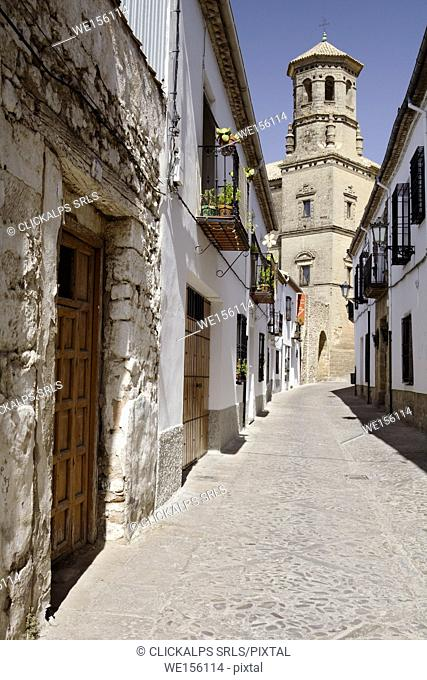 Baeza, Andalusia, Spain. A typical street in Baeza village