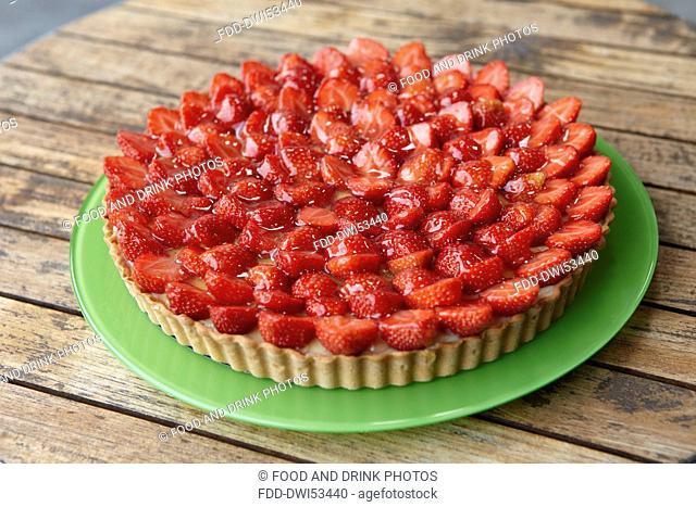 Strawberry tart - step shot