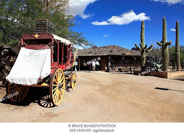The main street in Old Tucson Studios. Tucson. Arizona. USA