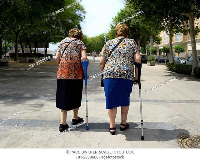 2 seniors, Old people, Spain