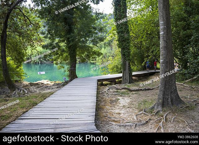 Walking trail at Krka National Park. Location: Sibenik-Knin County, Croatia, Europe