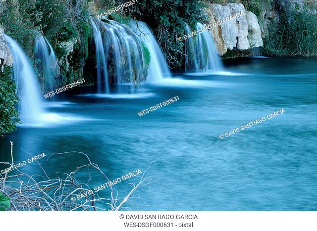 Spain, Albacete, Lagunas de Ruidera, Waterfalls of Guadiana river