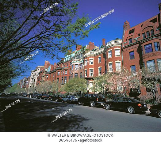 Commonwealth Avenue. Boston. Massachusetts. USA