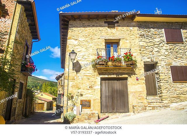 Traditional architecture. Horcajuelo de la Sierra, Madrid province, Spain