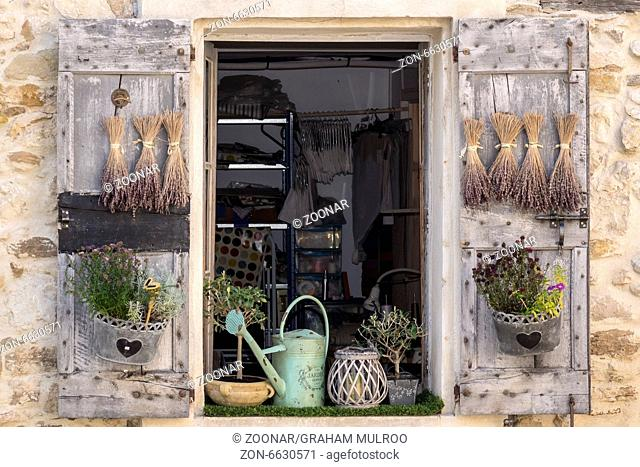 Garden Shop Window Le Castellet Provence France